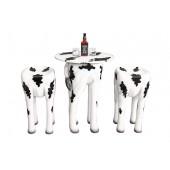 Tisch mit 2 Hockern Kuh