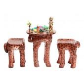 Tisch mit 2 Hockern Gepard für Kinder