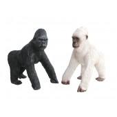 Schwarzer und weißer Gorilla