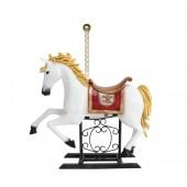 Karussell Pferd mit Sattel und Stange