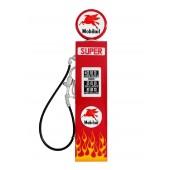 Route 66 Tankstelle Rot mit Flammen als Wanddeko