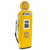 Retro Tankstelle Gelb als Schrank