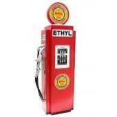 Retro Tankstelle Rot als Schrank