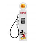 Retro Zapfsäule Weiß mit Mickey Mouse als Wanddeko