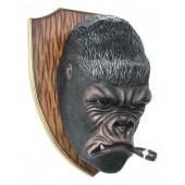 Gorillakopf mit Zigarre für Wand