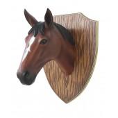 Pferdekopf auf Holz klein