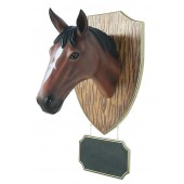 Pferdekopf mit Angebotsschild