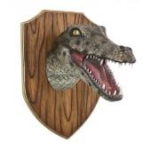 Alligatorkopf auf Holz
