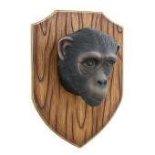 Affenkopf auf Holz