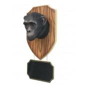 Affenkopf mit Angebotsschild