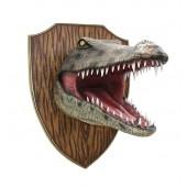 Krokodilkopf auf Holz