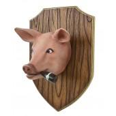 Schweinekopf auf Holz