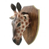 Giraffenkopf auf Holz