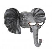 Elefantenkopf mit Stoßzähnen