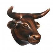 Bronze Kuhkopf