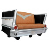 Sofa Chevy Schwarz mit braunem Polster