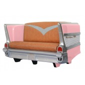 Sofa Chevy Rosa mit braunem Polster