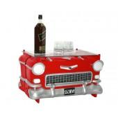 Tisch Chevy Rot mit Glasplatte