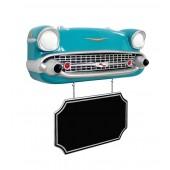 Wanddeko Chevy Front Hellblau mit Angebotsschild