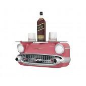 Wandregal Chevy Rosa mit Glasplatte