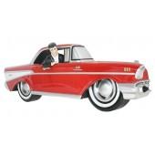 Wanddeko Chevy Rot mit Elvis