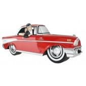 Wanddeko Chevy Rot mit Elvis und Marilyn