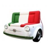 Sofa Fiat 500 Weiß mit italienischem Farben als Polster
