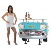 Bar Chevy Front Hellblau mit Glasplatte