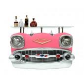 Wandkonsole Chevy Pink mit Glasplatte