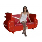 Sofa Cadillac Rot mit rotem Polster
