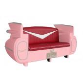 Sofa Cadillac Rosa mit rotem Polster