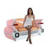 Sofa Cadillac Rosa mit braunem Polster