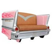 Sofa Chevy Rosa mit pinken Flammen