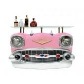 Wandkonsole Chevy Rosa mit Glasplatte