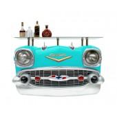 Wandkonsole Chevy Hellblau mit Glasplatte
