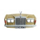 Wanddeko Rolls Royce Gold