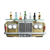 Wandregal Rolls Royce Gold mit Glasplatte