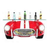 Wandregal Shelby Cobra mit Glasplatte