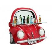 Spiegel VW Rot mit Regal