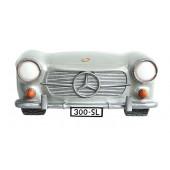 Wanddeko Mercedes Benz Silber groß