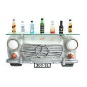 Wandregal Mercedes Benz Silber mit Glasplatte