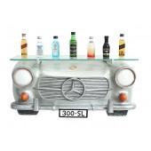 Wandregal Mercedes Benz Silber mit Glasplatte