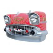 Wanddeko Chevy Rosa Front mit roten Flammen