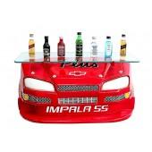 Wandregal Chevy Impala Rot mit Glasplatte