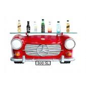 Wandregal Mercedes Benz Rot mit Glasplatte