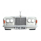 Wanddeko Rolls Royce Silber