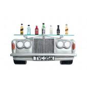 Wandregal Rolls Royce Silber mit Glasplatte