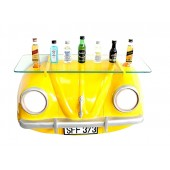 Wandregal VW Gelb mit Glasplatte