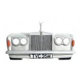 Wanddeko Rolls Royce Silber groß