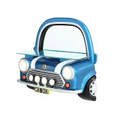 Spiegel Mini Cooper Blau mit Regal